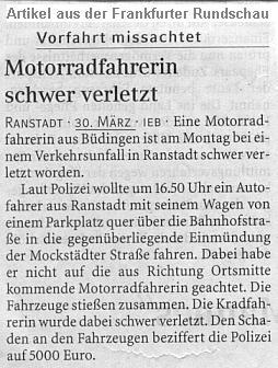 Unfallberichte Aus Der Zeitung